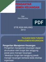 Pengantar Manajemen Keuangan 2013