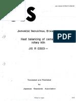 01-JIS - Heat Balancing of Cement Rotary Kiln