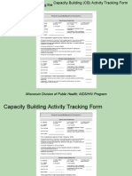 Capacity Building Activity Tracking Form Tutorial