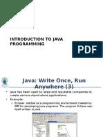 Java Intro