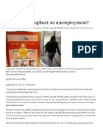 Should we be upbeat on unemployment?