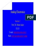 Analog Electronics Introduction