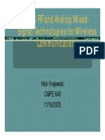 RF and Analog/Mixed- Signal Technologies for Wireless Communications