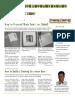 Framing Newsletter Vol 1 Iss 4