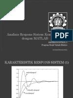 Analisis Respons Sistem Kontrol PID Dengan MATLAB