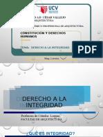 CONSTITUCIÓN DERECHO A LA INTEGRIDAD
