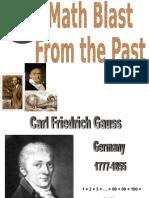 Carl Friedrich Gauss Blast From The Past.ppt