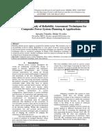 Aprajita Tripathi, Shilpi Sisodia_2014_Comparative Study of Reliability Assessment Techniques for Composite Power System Planning & Applications
