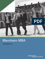Mannheim Mba Brochure