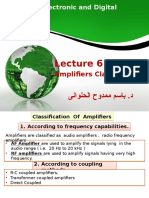 EEDP Lect 06 Amplifiers 3 Classes