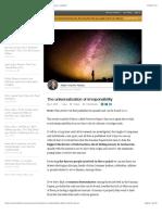 The universalization of irresponsibility | Albert Vilariño Alonso | LinkedIn