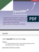 Ursa Openerp Accounting Webinar