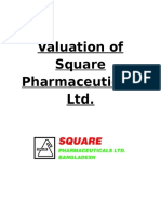 Valuation of Square Pharmaceuticals