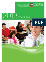 School of Education Teaching Program Information leaflet