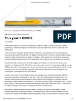 This Year's MODEL _ Process Engineering (DOP)