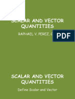 Vectors and Scalars Quatities
