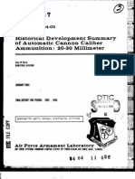 Historical Development Summary of Automatic Cannon Caliber Ammunition 20-30mm by Dale Davis
