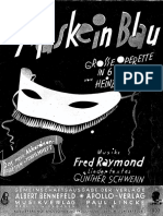 Fred Raymond - Maske in Blau - Operetta Songbook