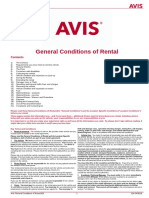 General Conditions of Rental