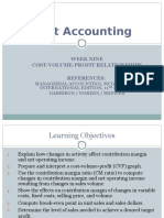 Cost Accounting - Week 9