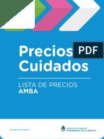 Precios Cuidados mayo (AMBA)