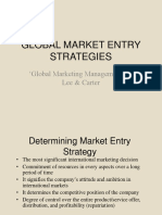 Global Market Entry Strategies and Internationalization Process