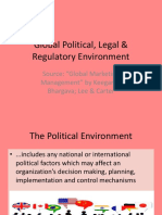 Global Political Legal Regulatory Environment