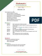 8 Maths NCERT Solutions Chapter 3 4
