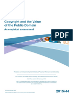 Copyright and the Value of the Public Domain
