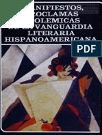 Osorio, Nelson - Manifiestos Proclamas y Polemicas de La Vanguardia Literaria Hispanoamericana, 1988