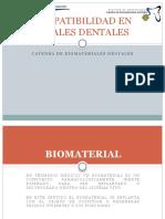 Biocompatibilidad en Materiales Dentales