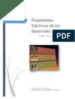 Propiedades Eléctrica de Los Materiales