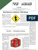Watt Watchers Newspaper - Fall 2001