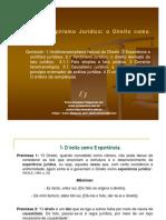 Tema 3 Empirismo Jurídico - O Direito Como Experiência, Ppt 2007