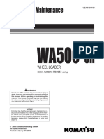 WA500 6H H60051 English O and M