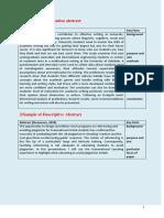 sample of descriptive abstract