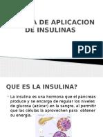 Aplicacion de Insulinas