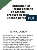 The Utilization of Acid-Tolerant Bacteria on Ethanol Production[1]
