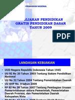 Kebijakan Pendidikan Gratis 2009