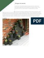 20 Ideas Decorativas Con Bloques de Concreto