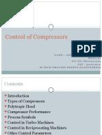 Control of Compressor