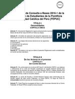 Reglamento de Consulta a Bases 2016 - I