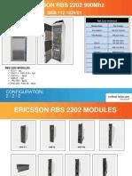 Ericsson RBS2202 900Mhz Cabinet
