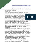 La Funcion de Descomposición de Datos en El Sistema de Regulación de Datos