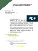 Prototipo de informe tartamudez