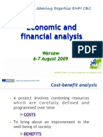 Presentation Economic and Financial Analysis INTERACT ENPI