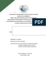 Informe del análisis de los entornos del Ecuador