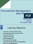 Procurement Management Best Practices