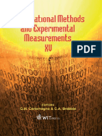 Computational Methods and Experimental Measurements XV Wit Transactions on Modelling and Simulation
