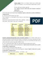 Descripción presente simple y pasado en Inglés